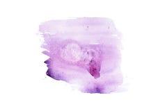 Συρμένος λεκές χρωμάτων τέχνης μορφής χρώματος ακουαρελών Watercolor χέρι splatter Στοκ φωτογραφίες με δικαίωμα ελεύθερης χρήσης