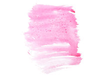 Συρμένος λεκές χρωμάτων τέχνης μορφής χρώματος ακουαρελών Watercolor χέρι splatter Στοκ φωτογραφία με δικαίωμα ελεύθερης χρήσης