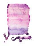 Συρμένος λεκές χρωμάτων τέχνης μορφής χρώματος ακουαρελών Watercolor χέρι splatter Στοκ Εικόνα