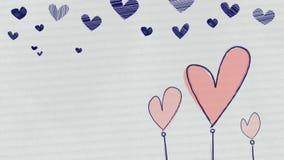 Συρμένος χέρι βρόχος καρδιών διανυσματική απεικόνιση