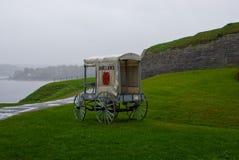 Συρμένο άλογο ασθενοφόρο Στοκ εικόνες με δικαίωμα ελεύθερης χρήσης