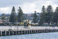 Συρμένο άλογο τραμ, λιμάνι του Victor, Νότια Αυστραλία Στοκ Εικόνες