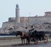 Συρμένο άλογο κάρρο στην Αβάνα Κούβα Στοκ Εικόνα