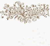 συρμένο ανασκόπηση floral χέρι Στοκ Εικόνα