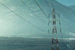 συρμένο απομονωμένο χέρι λευκό ισχύος γραμμών Στοκ φωτογραφία με δικαίωμα ελεύθερης χρήσης