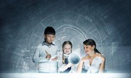 συρμένο απομονωμένο χέρι σχολικό διανυσματικό λευκό μαθήματος Στοκ Φωτογραφία