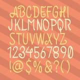 συρμένο αλφάβητο χέρι Συρμένο χέρι χειρόγραφο Χέρι που σύρεται abc Χέρι Wri Στοκ Εικόνες