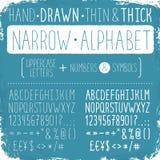 συρμένο αλφάβητο χέρι διανυσματική απεικόνιση
