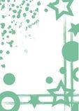 Συρμένο διάνυσμα υπόβαθρο με το πλαίσιο, σύνορα Το πρότυπο Grunge με τους γεωμετρικούς αριθμούς, παφλασμός, τριβή ψεκασμού, ραγίζ ελεύθερη απεικόνιση δικαιώματος