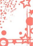 Συρμένο διάνυσμα υπόβαθρο με το πλαίσιο, σύνορα Το πρότυπο Grunge με τους γεωμετρικούς αριθμούς, παφλασμός, τριβή ψεκασμού, ραγίζ διανυσματική απεικόνιση