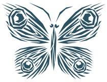 συρμένο πεταλούδα σύμβολο απεικόνισης χεριών Στοκ Εικόνες