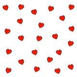 συρμένο πρότυπο καρδιών χεριών άνευ ραφής ελεύθερη απεικόνιση δικαιώματος