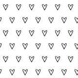 συρμένο πρότυπο καρδιών χεριών άνευ ραφής Στοκ φωτογραφία με δικαίωμα ελεύθερης χρήσης