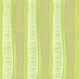 συρμένο πρότυπο χεριών άνευ ραφής ριγωτός ανασκόπ&e Χρώμα πρασινάδων Στοκ εικόνα με δικαίωμα ελεύθερης χρήσης