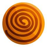 Συρμένο σοκολάτα εικονίδιο μπισκότων, ύφος κινούμενων σχεδίων διανυσματική απεικόνιση