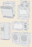 συρμένο συσκευές σπίτι χ&ep Στοκ φωτογραφία με δικαίωμα ελεύθερης χρήσης