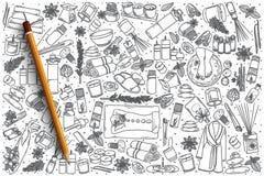 Συρμένο το χέρι διάνυσμα Aromatherapy doodle έθεσε Στοκ Φωτογραφίες