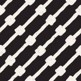 Συρμένο χέρι άνευ ραφής βρώμικο σχέδιο γραμμών Αφηρημένη γεωμετρική σύσταση επανάληψης σε γραπτό Στοκ εικόνα με δικαίωμα ελεύθερης χρήσης