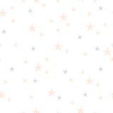 Συρμένο χέρι άνευ ραφής σχέδιο αστεριών Στοκ εικόνες με δικαίωμα ελεύθερης χρήσης