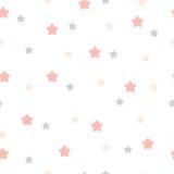 Συρμένο χέρι άνευ ραφής σχέδιο αστεριών Στοκ φωτογραφίες με δικαίωμα ελεύθερης χρήσης
