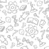 Συρμένο χέρι άνευ ραφής σχέδιο επιστήμης Στοκ φωτογραφία με δικαίωμα ελεύθερης χρήσης