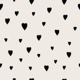 Συρμένο χέρι άνευ ραφής σχέδιο καρδιών Στοκ φωτογραφίες με δικαίωμα ελεύθερης χρήσης