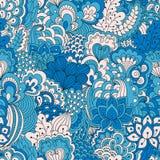 Συρμένο χέρι άνευ ραφής σχέδιο με τα floral στοιχεία στοκ εικόνες με δικαίωμα ελεύθερης χρήσης