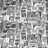 Συρμένο χέρι άνευ ραφής σχέδιο με τη μεγάλη πόλη Νέα Υόρκη Στοκ φωτογραφίες με δικαίωμα ελεύθερης χρήσης