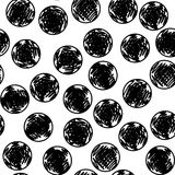 Συρμένο χέρι άνευ ραφής σχέδιο με τους κύκλους Ελεύθερη απεικόνιση δικαιώματος