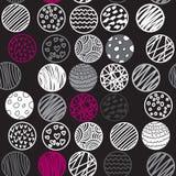 Συρμένο χέρι άνευ ραφής σχέδιο με τους κύκλους Απεικόνιση αποθεμάτων
