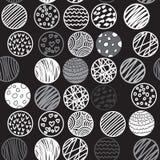 Συρμένο χέρι άνευ ραφής σχέδιο με τους κύκλους διανυσματική απεικόνιση