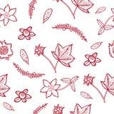 Συρμένο χέρι άνευ ραφής σχέδιο με το βακκίνιο, cloudberry, cowberry Στοκ Φωτογραφίες