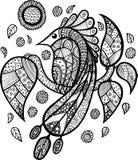 Συρμένο χέρι άνευ ραφής σχέδιο με το βακκίνιο, cloudberry, cowberry Στοκ εικόνες με δικαίωμα ελεύθερης χρήσης