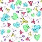 Συρμένο χέρι άνευ ραφής σχέδιο παιδιών Στοκ Εικόνες