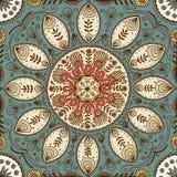 Συρμένο χέρι άνευ ραφής σχέδιο mandala Στοκ εικόνες με δικαίωμα ελεύθερης χρήσης