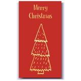 Συρμένο χέρι δέντρο καρτών Χριστουγέννων Στοκ εικόνα με δικαίωμα ελεύθερης χρήσης