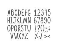 Συρμένο χέρι αλφάβητο, κεφαλαία γράμματα διανυσματική απεικόνιση