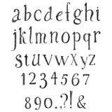 Συρμένο χέρι αλφάβητο μολυβιών Στοκ Φωτογραφία