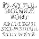 Συρμένο χέρι αλφάβητο σκίτσων Στοκ Εικόνες