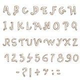 Συρμένο χέρι αλφάβητο. Χειρόγραφη πηγή Στοκ φωτογραφία με δικαίωμα ελεύθερης χρήσης