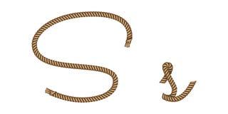 Συρμένο χέρι γράμμα S σχοινιών απεικόνιση αποθεμάτων