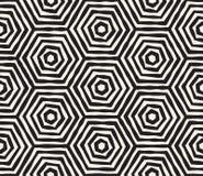 Συρμένο χέρι γραπτό ριγωτό άνευ ραφής σχέδιο μελανιού Διανυσματική σύσταση δικτυωτού πλέγματος grunge Η μονοχρωματική βούρτσα κτυ Στοκ εικόνα με δικαίωμα ελεύθερης χρήσης