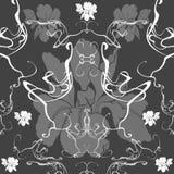 Συρμένο χέρι διανυσματικό σχέδιο στο ύφος Nouveau τέχνης διανυσματική απεικόνιση