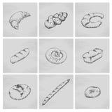 Συρμένο χέρι εικονίδιο αρτοποιείων Στοκ Εικόνες