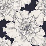 Συρμένο χέρι εκλεκτής ποιότητας άνευ ραφής floral σχέδιο Στοκ εικόνες με δικαίωμα ελεύθερης χρήσης
