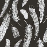 Συρμένο χέρι εκλεκτής ποιότητας σχέδιο με τα φτερά διάνυσμα Στοκ φωτογραφίες με δικαίωμα ελεύθερης χρήσης