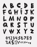 Συρμένο χέρι διάνυσμα αλφάβητου Στοκ εικόνα με δικαίωμα ελεύθερης χρήσης