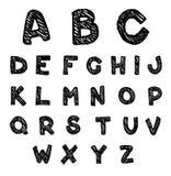 Συρμένο χέρι διάνυσμα αλφάβητου Στοκ εικόνες με δικαίωμα ελεύθερης χρήσης