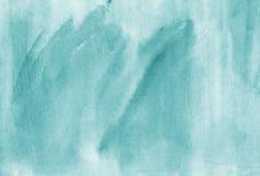 Συρμένο χέρι καλλιτεχνικό brushstro χρώματος aquamarine Watercolor καθιερώνον τη μόδα Στοκ φωτογραφία με δικαίωμα ελεύθερης χρήσης