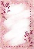Συρμένο χέρι κατασκευασμένο floral υπόβαθρο Εκλεκτής ποιότητας κάρτα με τα λουλούδια, φύλλα, brushstrokes Στοκ φωτογραφίες με δικαίωμα ελεύθερης χρήσης